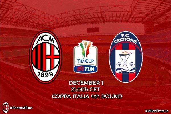 Milan-Crotone Заявка игроков