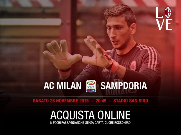 Заявка Милана на матч против Сампдории