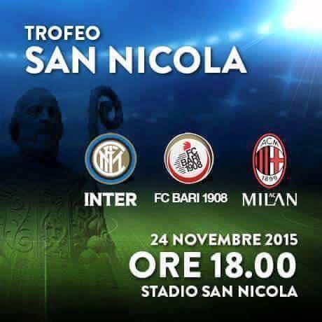 Заявка Милана на Трофео Сан Никола
