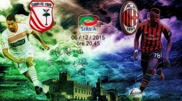Заявка игроков Милана на матч против Карпи