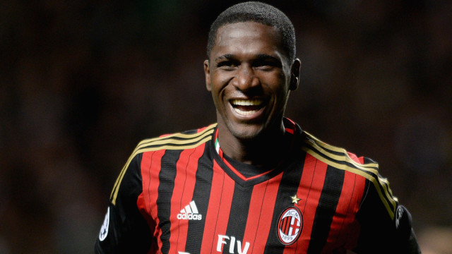 GLASGOW, SCOTLAND - NOVEMBER 26: Cristian Zapata of AC Milan celebrates after scoring during the UEFA Champions League Group H match between Celtic and AC Milan at Celtic Park Stadium on November 26, 2013 in Glasgow, Scotland. (Photo by Jeff J Mitchell/Getty Images)