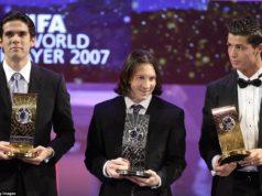 Кака, Месси и Роналду на вручении золотого мяча