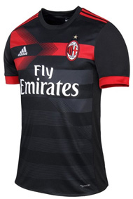 запасная форма Милана 2017-2018
