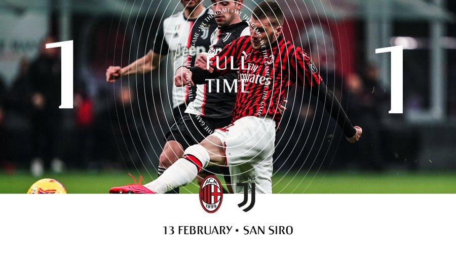 Милан ювентус 1 1